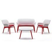 Salon marinella blanc / rouge