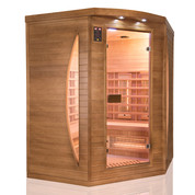 Sauna infra rouge spectra 3 places angulaire