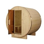 Sauna tonneau ext 2/4 pers en pin 1500x1828x1914 ep 38,5 mm
