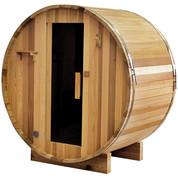 Sauna extérieur tonneau Red Cedar - 2/4 personnes - 150 x 182.8 x 191.4 cm