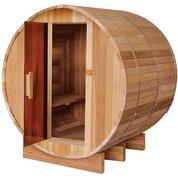 Sauna extérieur tonneau Red Cedar - 4/6 personnes - 235 x 182.8 x 191.4 cm