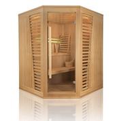 Sauna traditionnel vapeur venetian 3/4places angulaire