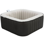 Spa gonflable carré 3/4 places claidy 158x158x65