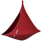 Tente suspendue/Hamac Double rouge