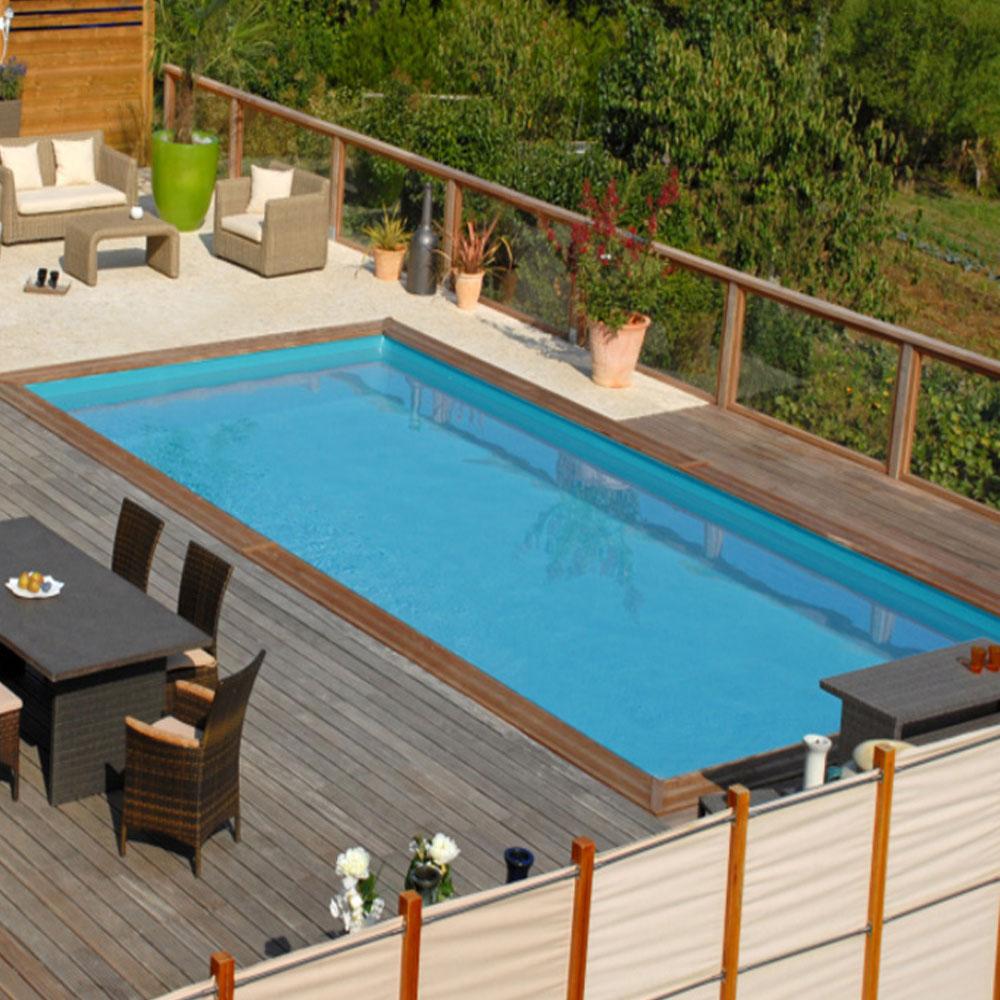 Piscine En Palette De Bois mint, ma piscine bois facile à installer !