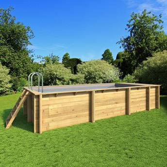 Piscine bois Pool'N Box avec coffre filtration intégré - 6.2 x 2.50 H.1.33 M
