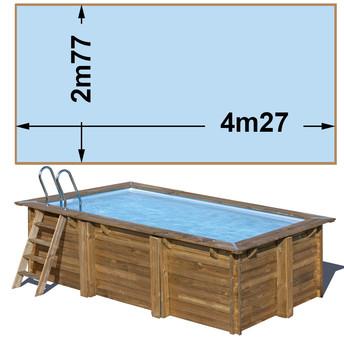 Piscine bois rectangulaire 4.27m x 2,77m x H.1,19m