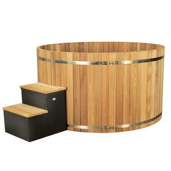 Spa en bois red cedar premium 5/7 places 2140x1045